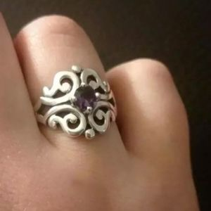 Spanish Lace Ring with Amethyst